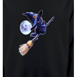 Sweatshirts Fêtes et occasions apprenti  sorcière Chaton noir Halloween (Z)