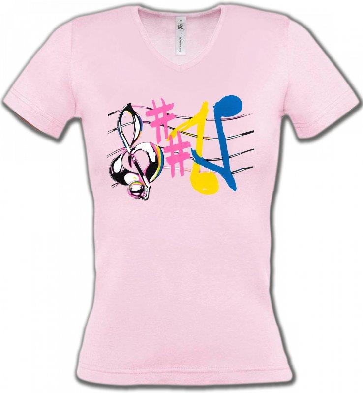 T-Shirt Et Sweat Shirt Avec Des Notes De Musique