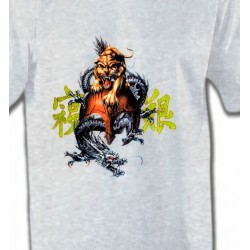 T-Shirts Tribal Métal Celtique Dragon et Lion chinois (T3)