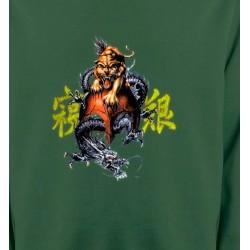 Sweatshirts Tribal Métal Celtique Dragon et Lion chinois (T3)