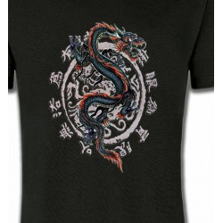 T-Shirts Tribal Métal Celtique Dragon chinois (T4)