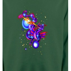 Sweatshirts Tribal Métal Celtique Dragon enchanté (Y2)