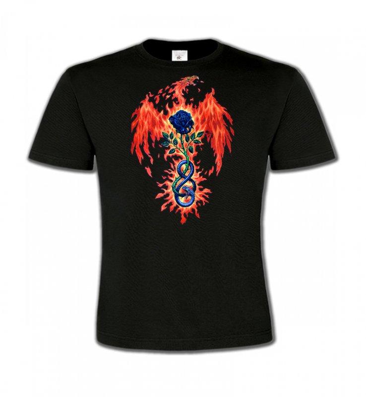 T-Shirts Col Rond EnfantsDragonsDragon de feu (K4)