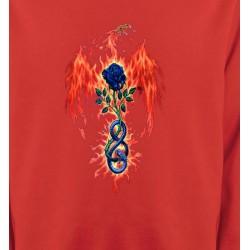 Sweatshirts Tribal Métal Celtique Dragon de feu (K4)