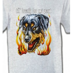 T-Shirts Tribal Métal Celtique Rottweiler Enfer (P)
