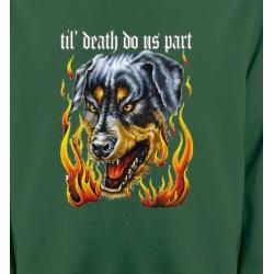 Sweatshirts Tribal Métal Celtique Rottweiler Enfer (P)