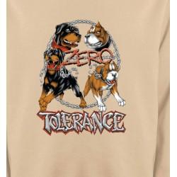 Sweatshirts Tribal Métal Celtique Rottweiler zéro tolérance (B)