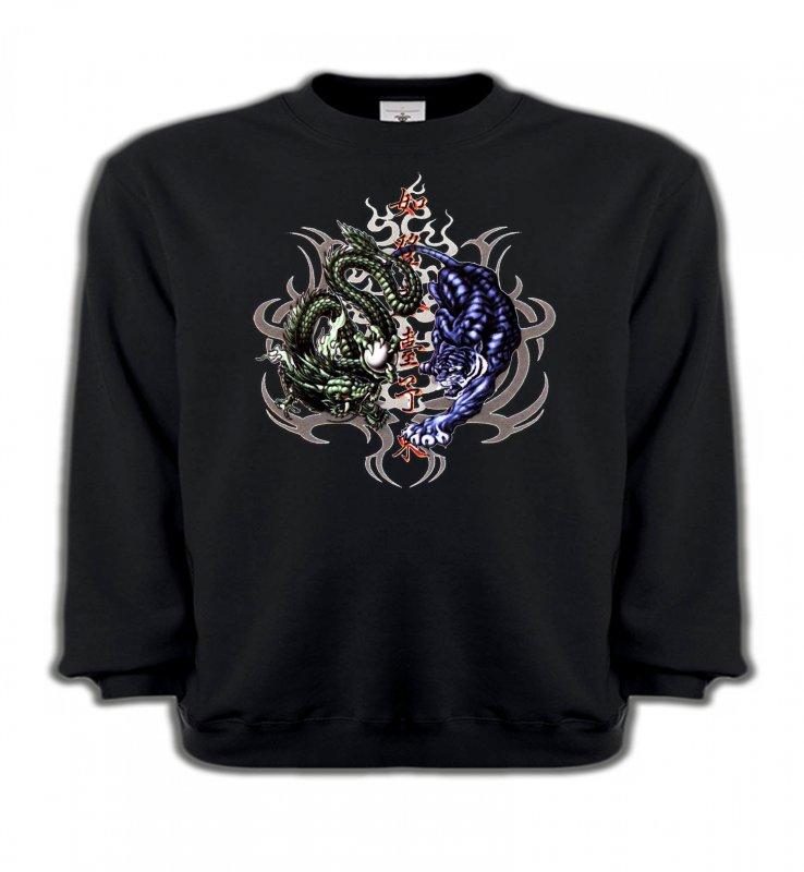 Sweatshirts EnfantsSignes astrologiquesDragons bleu et vert (W4)