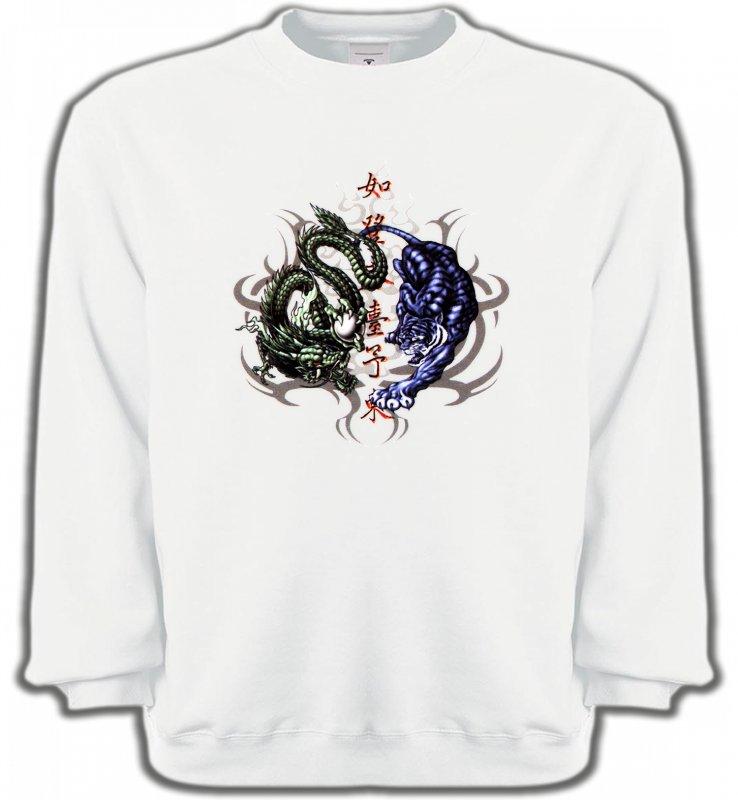 Sweatshirts UnisexeSignes astrologiquesDragons bleu et vert (W4)