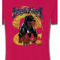 T-Shirts Tribal Métal Celtique Rottweiler et Dragon (H)