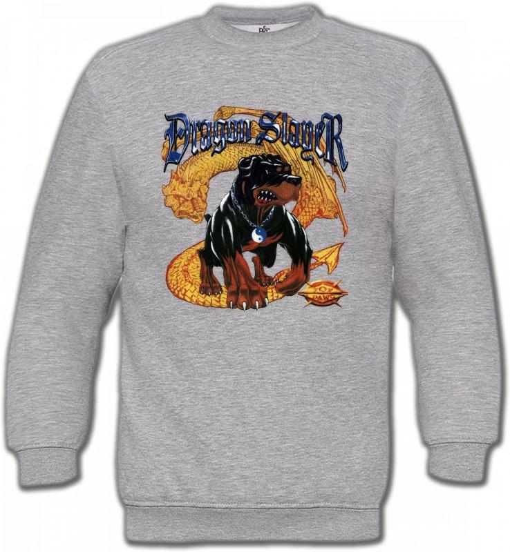 Sweatshirts UnisexeDragonsRottweiler et Dragon (H)