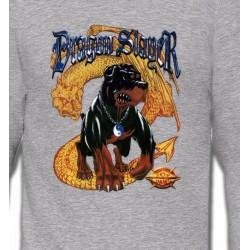 Sweatshirts Tribal Métal Celtique Rottweiler et Dragon (H)