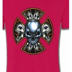 T-Shirts Tribal Métal Celtique Crânes en croix