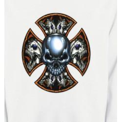 Sweatshirts Tribal Métal Celtique Crânes en croix