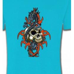 T-Shirts Tribal Métal Celtique Crâne et dragon