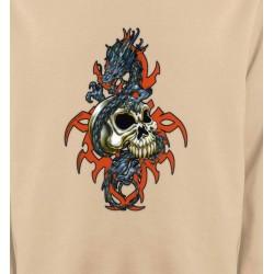 Sweatshirts Tribal Métal Celtique Crâne et dragon