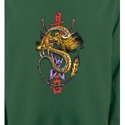 Sweatshirts Tribal Métal Celtique Dragon chinois et épée