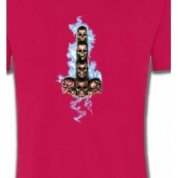 T-Shirts Tribal Métal Celtique Têtes de mort électriques