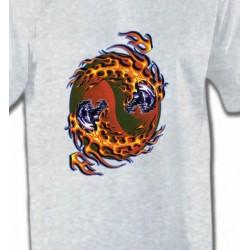 T-Shirts Tribal Métal Celtique Crâne enragés en feu