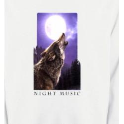 Sweatshirts Animaux de la nature Loup pleine lune (D)