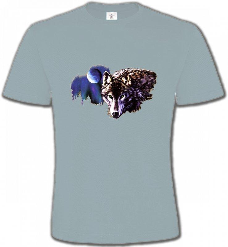 T-Shirts Col Rond UnisexeLoupsLa nuit du loup (S2-C)