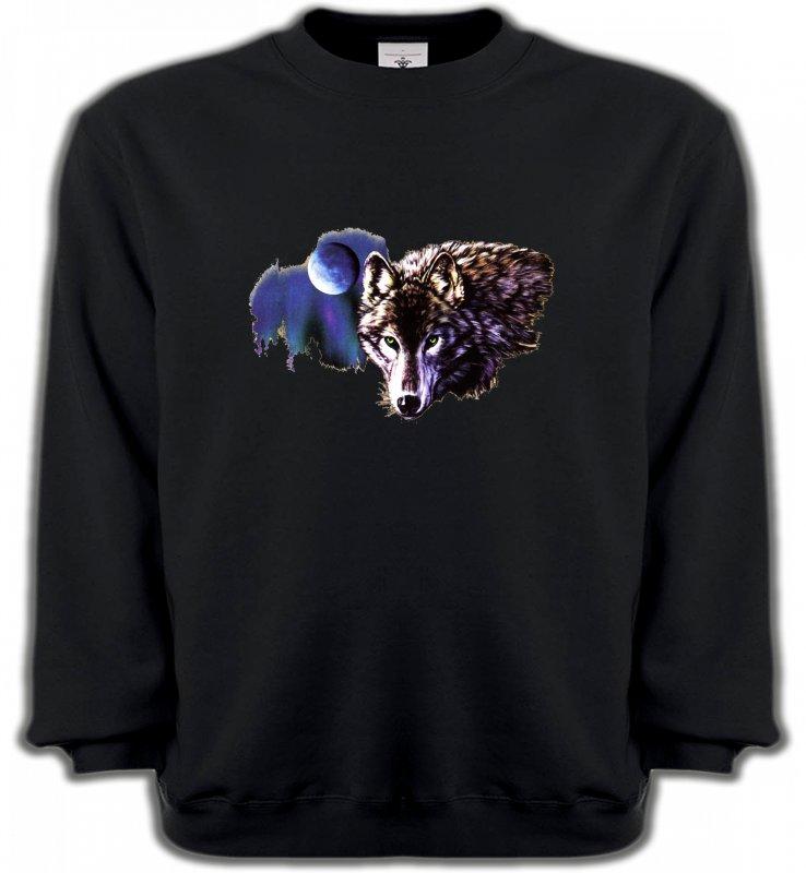Sweatshirts UnisexeLoupsLa nuit du loup (S2-C)