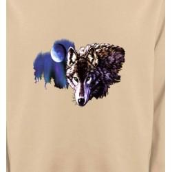 Sweatshirts Animaux de la nature La nuit du loup (S2-C)