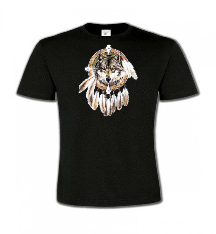 T-Shirts Col Rond EnfantsLoupsLoup indien (S)