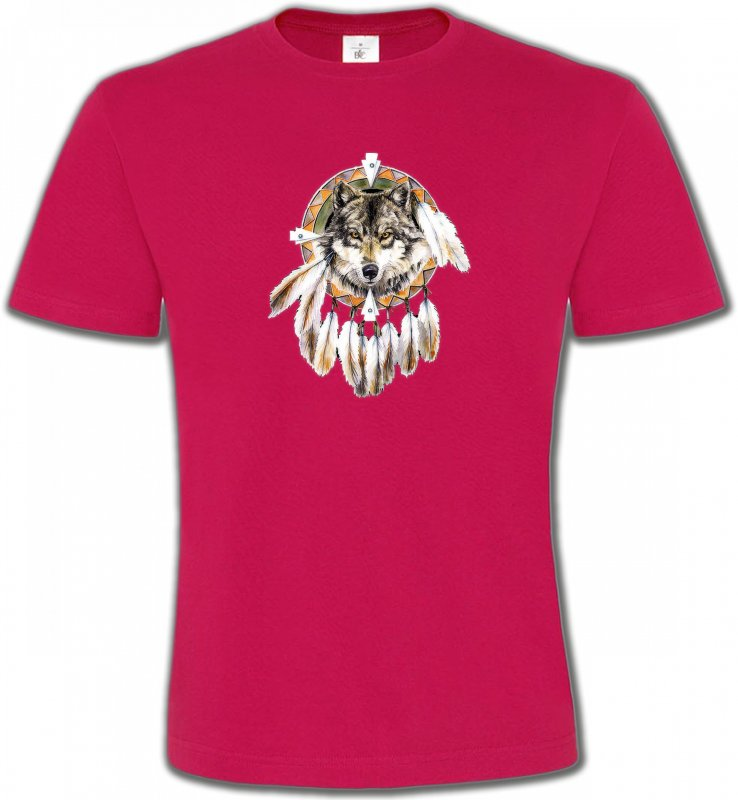 T-Shirts Col Rond UnisexeLoupsLoup indien (S)
