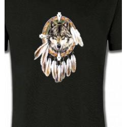 T-Shirts Indien et Amérindiens Loup indien (S)