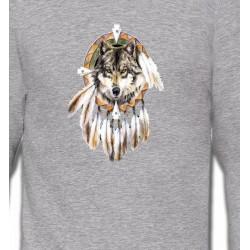 Sweatshirts Sweatshirts Unisexe Loup indien (S)