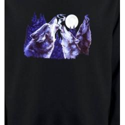 Sweatshirts Loups Loups hurlants dans la nuit