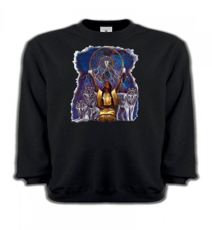 Sweatshirts EnfantsLoupsLoups et attrape rêve (B2) (F)