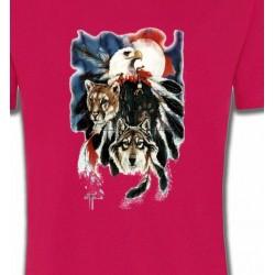 T-Shirts T-Shirts Col Rond Enfants Loup Puma Aigle (R)