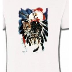 T-Shirts Indien et Amérindiens Loup Puma Aigle (R)
