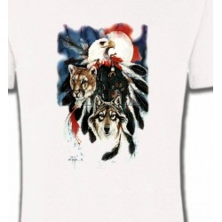 T-Shirts Animaux de la nature Loup Puma Aigle (R)