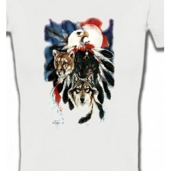 T-Shirts T-Shirts Col V Femmes Loup Puma Aigle (R)