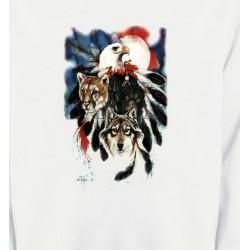 Sweatshirts Sweatshirts Unisexe Loup Puma Aigle (R)