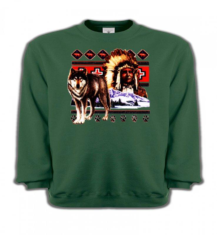 Sweatshirts EnfantsLoupsIndien et Loup (P)