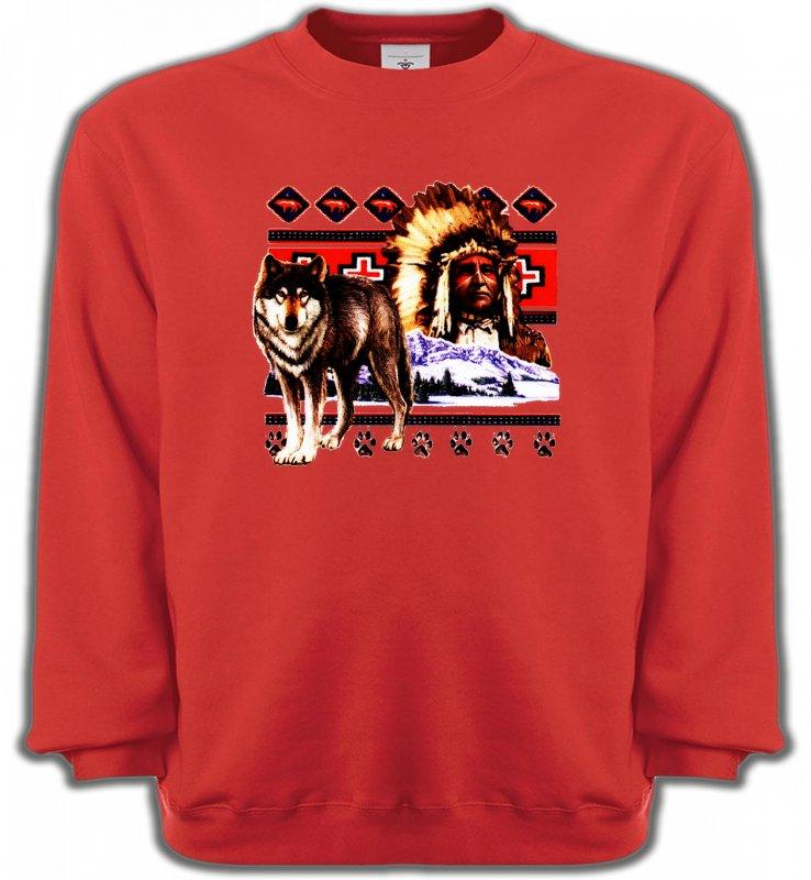 Sweatshirts UnisexeLoupsIndien et Loup (P)