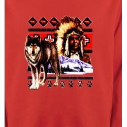 Sweatshirts Animaux de la nature Indien et Loup (P)