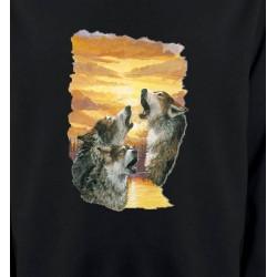 Sweatshirts Animaux de la nature Loups crépuscule (H)