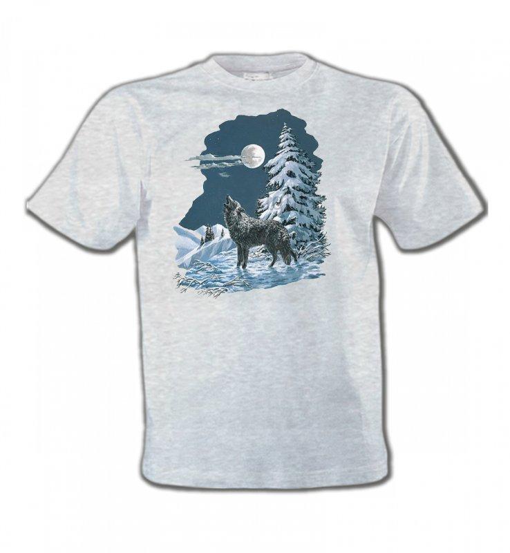 T-Shirts Col Rond EnfantsLoupsLoup dans la neige (T)