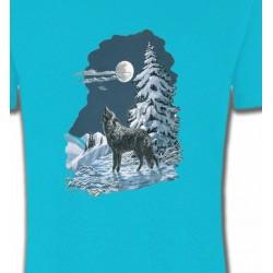 T-Shirts Animaux de la nature Loup dans la neige (T)