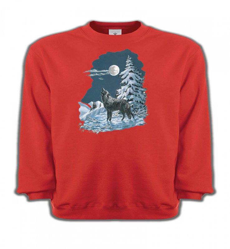 Sweatshirts EnfantsLoupsLoup dans la neige (T)