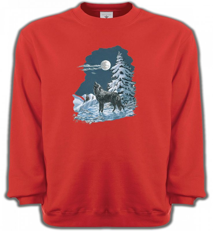 Sweatshirts UnisexeLoupsLoup dans la neige (T)