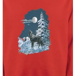 Sweatshirts Animaux de la nature Loup dans la neige (T)