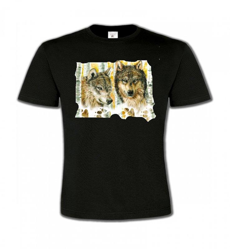 T-Shirts Col Rond EnfantsLoupsLoups dans la forêt (O)