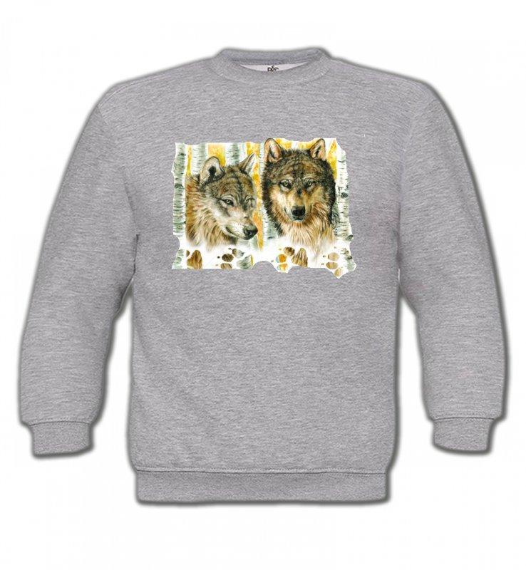 Sweatshirts EnfantsLoupsLoups dans la forêt (O)