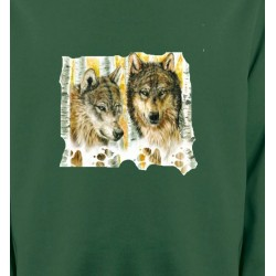 Sweatshirts Loups Loups dans la forêt (O)